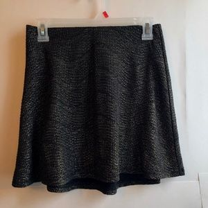 NEW BCBGENERATION Black Gold Sparkle Glitter Skirt